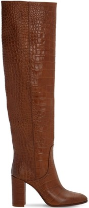Strategia 80mm Croc Embossed Over The Knee Boots