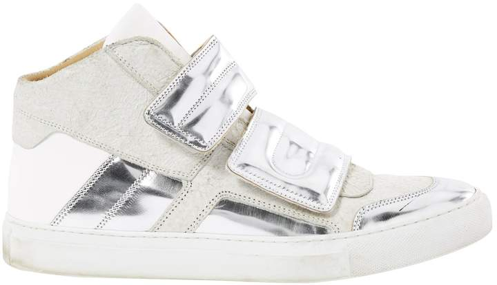 Maison Margiela Leather High Top Trainers.