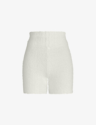 SKIMS Ladies Cream Knitted Kim Kardashian West Cozy Shorts, Size: XXL/XXXL