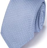 Charles Tyrwhitt Sky silk Italian luxury plain grenadine tie