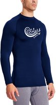 Baleaf Men's Long Sleeve Surf Shirt Rashguard Swim Tee UPF 50+ Size S