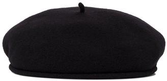 Marine Serre Embroidered wool beret