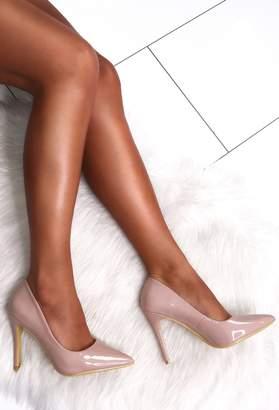 Pink Boutique Cinderella Story Nude Patent Court Heels