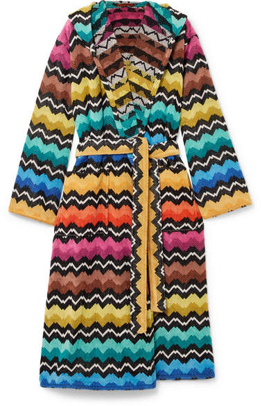 Missoni Home Hooded Cotton-terry Robe - Black