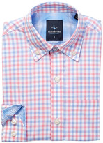 Tailorbyrd Pink & Light Blue Gingham Dress Shirt (Big Boys)