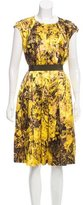 Max Mara Printed Silk-Blend Dress
