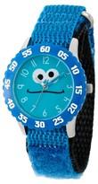 Sesame Street Stainless Steel Time Teacher Watch - Blue