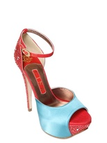 Gina 140mm Destiny Satin And Linen Sandals