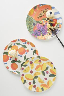 Anthropologie Market Bamboo Melamine Dinner Plate By in Assorted Size DINNER