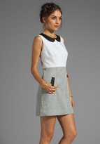 Milly Shimmer Linen Amanda Collar Dress