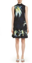 Erdem Women's Brocade Drop Waist Ruffle Hem Dress