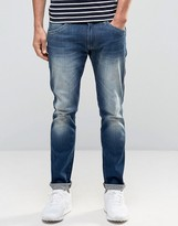 Wrangler Skinny Low Rise Jean In Distant Relation Wash