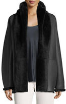 Vince Shawl Collar Reversible Shearling Coat