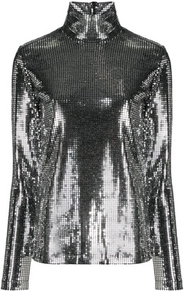 MM6 MAISON MARGIELA Chain-Mail Sequinned Top