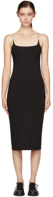 Alexander Wang Black Chain Camisole Dress