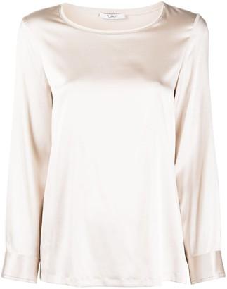Peserico long-sleeved silk-blend T-shirt