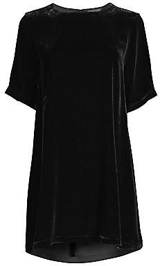 Eileen Fisher Women's Velvet Mini Shift Dress