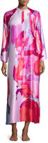 Natori Abstract-Print Zip Caftan, Bright Lilac Multi