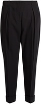 Bottega Veneta High-rise cropped-leg wool trousers