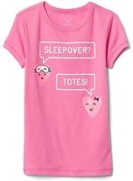 Graphic short sleeve sleep top