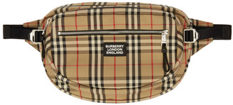 Burberry Beige Large Vintage Check Cannon Bum Bag