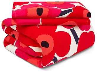 Marimekko Unikko 3-Piece Floral Cotton Duvet Cover Set