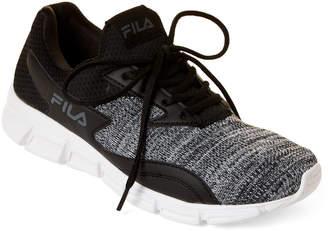 Fila Black & White Fastreactor Knit Running Sneakers