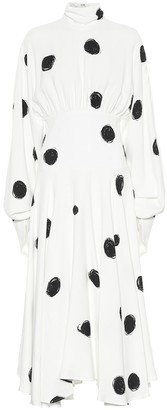 Christopher Kane Dotted crepe midi dress