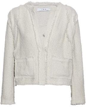 IRO Frayed Cotton-blend Boucle-tweed Jacket