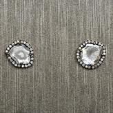 Rocks With Soul Diamond Slice Stud Earrings