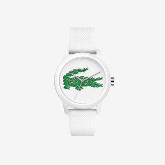 Lacoste Women's 12.12 Watch with White Silicone Petit Pique Strap