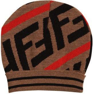 Fendi Logo Jacquard Cotton Blend Hat