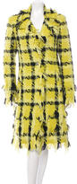 Versace Tweed Plaid Coat