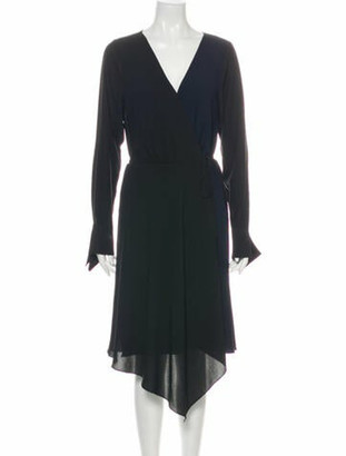 Bailey 44 V-Neck Midi Length Dress w/ Tags Black