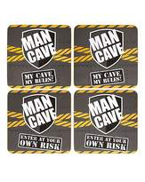 Fashion World Man Cave Coasters