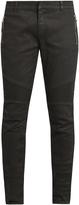 Balmain Biker skinny-fit coated jeans