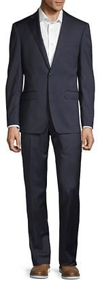 Calvin Klein 2-Piece Tonal Plaid Wool Suit