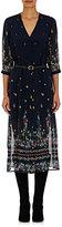 Sea Women's Floral-Print Chiffon Belted Shirtdress-NAVY