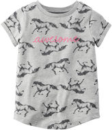 Carter's Short-Sleeve Gray Knit Fashion Top - Girls 4-8