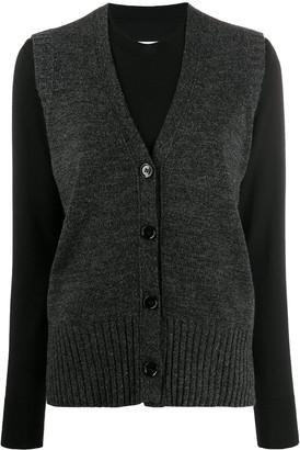MM6 MAISON MARGIELA layered vest jumper