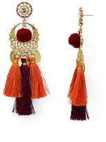 Rebecca Minkoff Tassel Pom Drama Drop Earrings