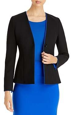 HUGO BOSS Jucita Collarless Blazer