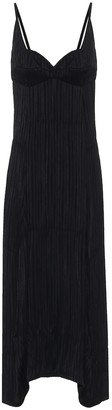 Jil Sander Plisse georgette maxi dress