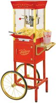"Nostalgia Tall Vintage Collection Kettle Popcorn Cart - 53"" - Red - 6 oz"