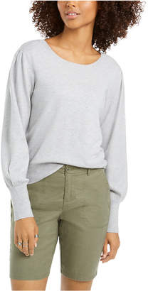 Style&Co. Style & Co Pull-Sleeve Blouson Sweater