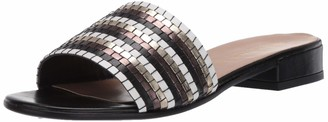 Bella Vita Eli- Italy Italy Woven Slide Sandal Metallic Multi