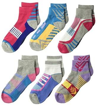 Jefferies Socks Tech Sport Quarter 6-Pack (Toddler/Little Kid/Big Kid/Adult) (Multi) Girls Shoes