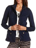 Charlotte Russe Cotton Zip-Up Anorak Jacket