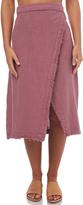 Billabong Womens Heat Wave Wrap Midi Skirt Pink
