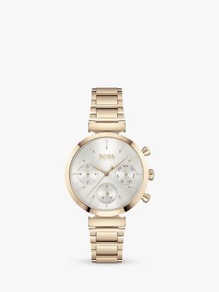 HUGO BOSS Women's Flawless Chronograph Bracelet Strap Watch